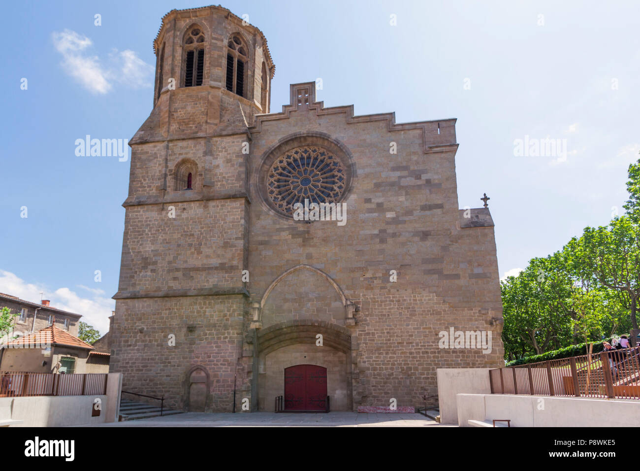 Cathedral of Saint Michael of Carcassonne, French department of Aude, Occitanie Region, France. - Stock Image