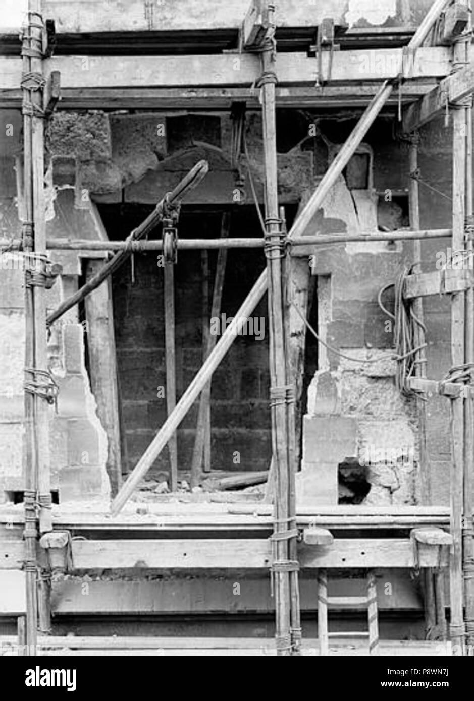 80 Château - Donjon, Partie inférieure du pont-levis au 1er étage - Vincennes - Médiathèque de l'architecture et du patrimoine - APMH00016769 - Stock Image