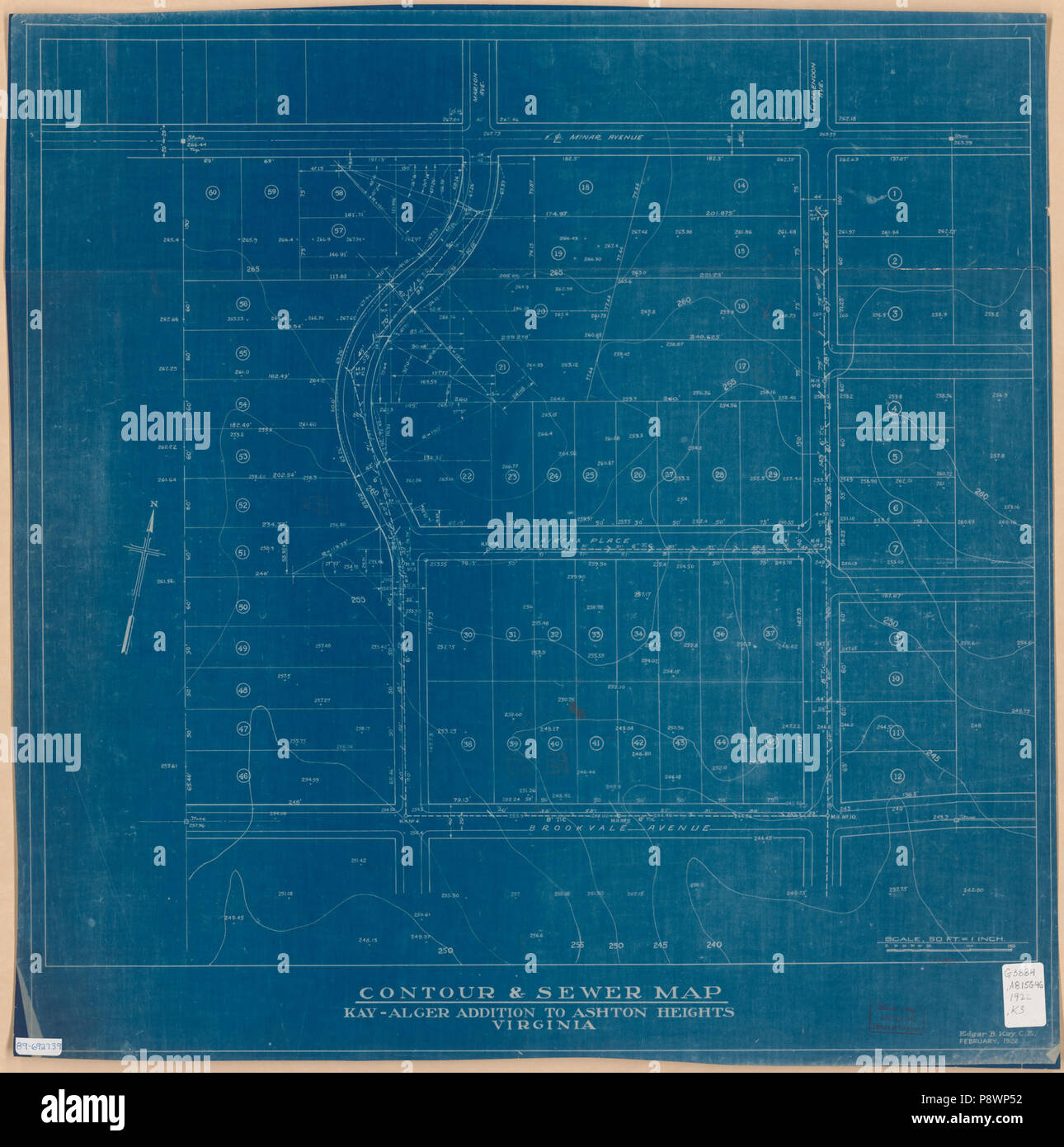 Ashton Virginia Map.83 Contour Sewer Map Kay Alger Addition To Ashton Heights