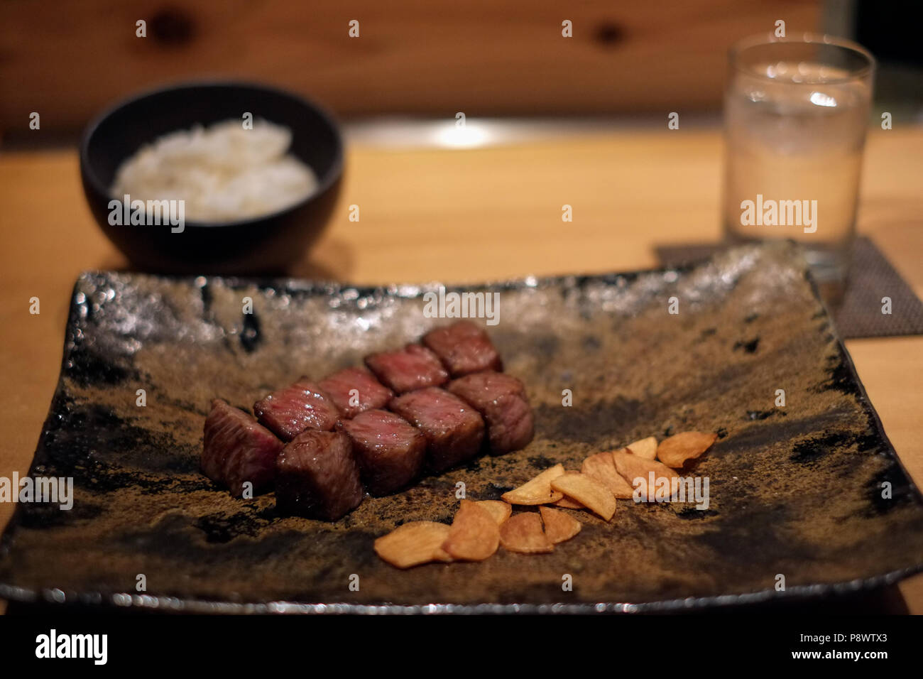 Kobe beef served in a restaurant in the Gion district of