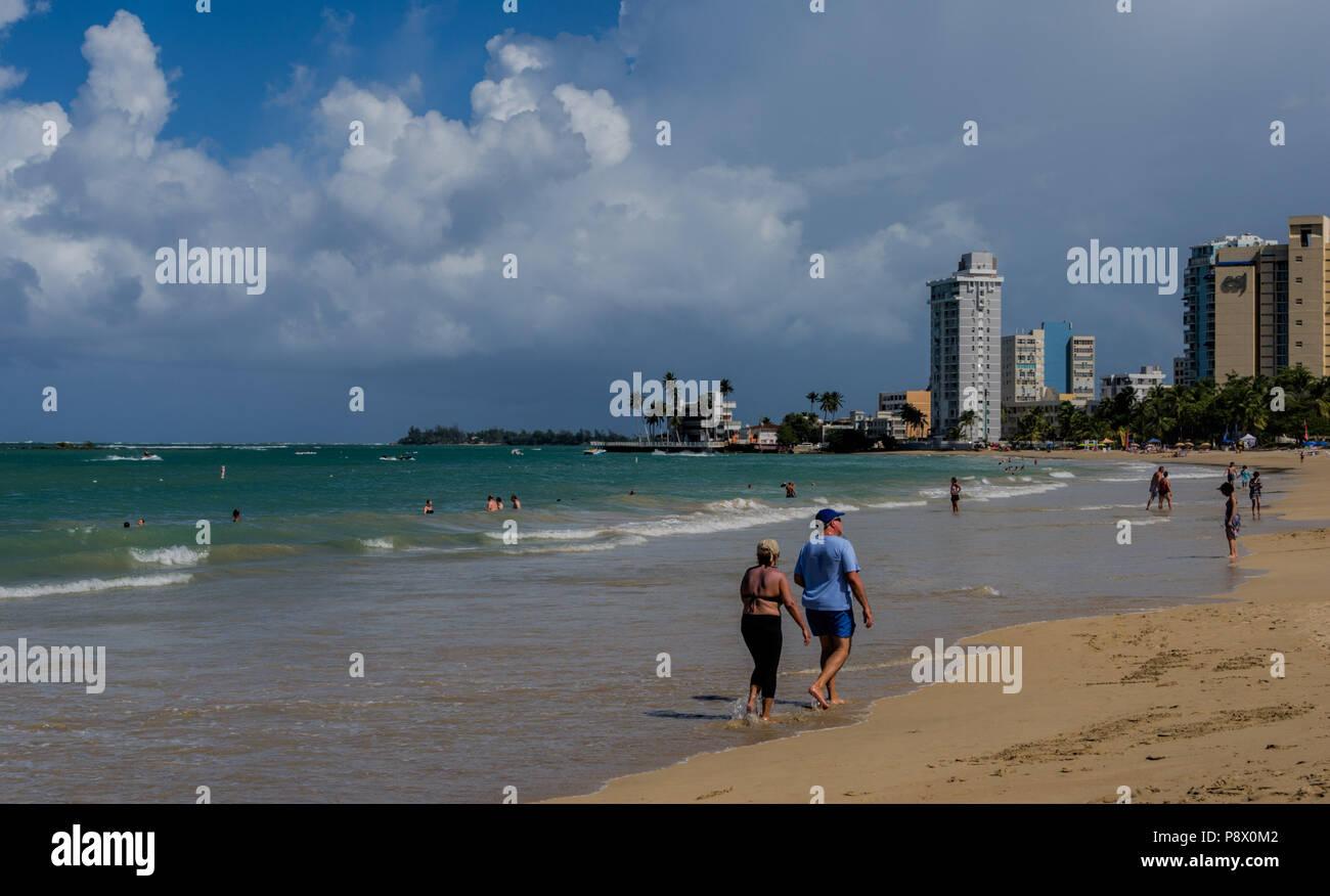 San Juan Puerto Rico beachscape - Stock Image