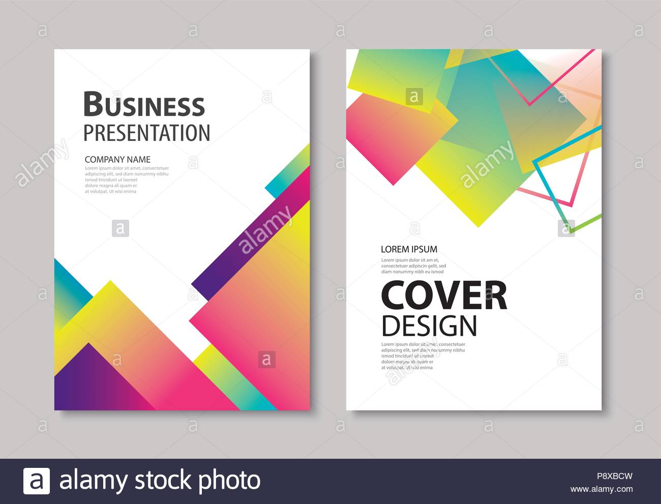 abstract modern geometric cover and brochure design template