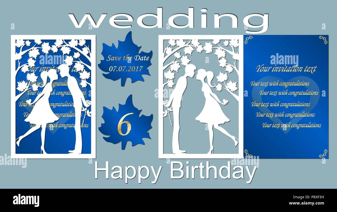 Vector Illustration Postcard Kiss The Invitation Card And Greeting