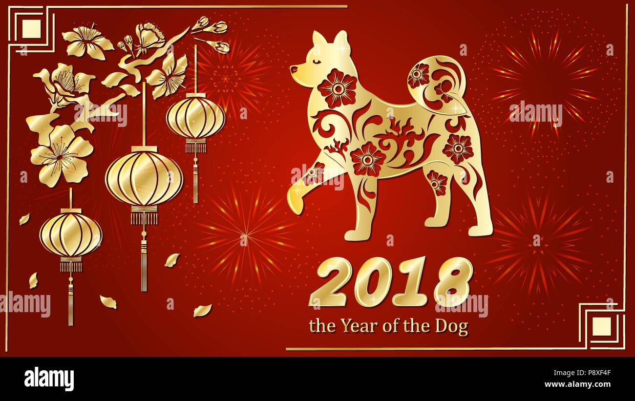 Dog is a symbol of the 2018 chinese new year paper cut art design dog is a symbol of the 2018 chinese new year paper cut art design for greeting cards calendars banners posters invitations m4hsunfo