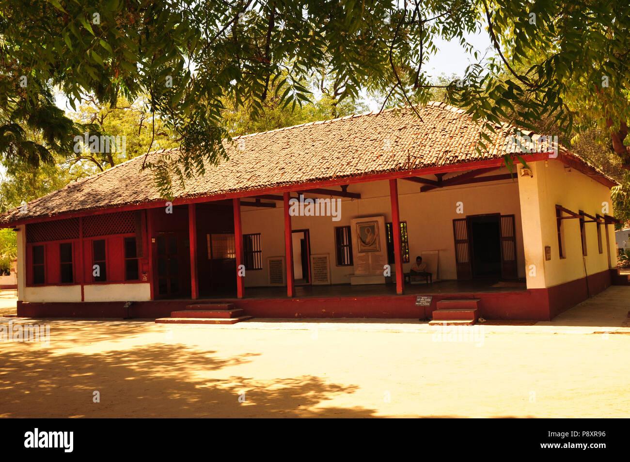 India: Ghandi's Ashram in Ahmedabad-City, Gujarat - Stock Image