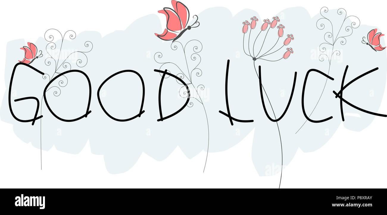 Good luck greeting card stock photo 212030755 alamy good luck greeting card m4hsunfo