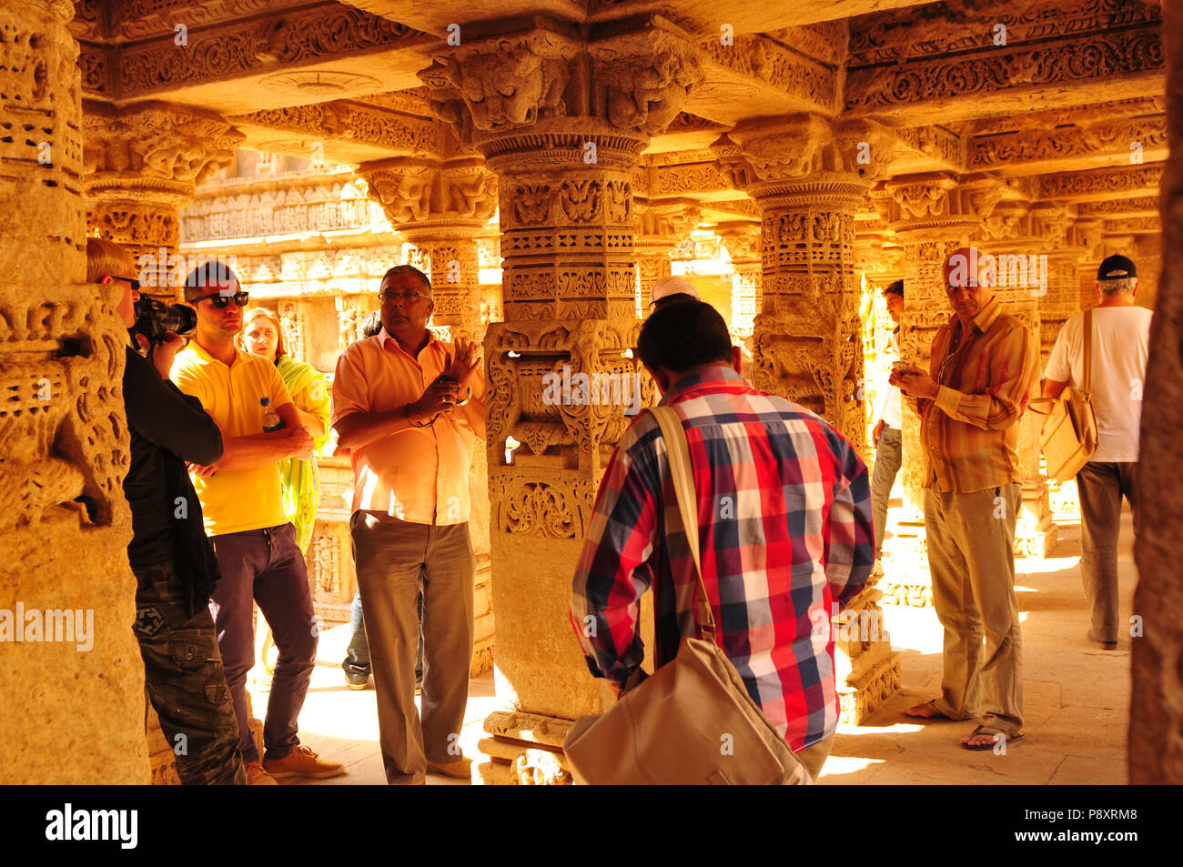 Sandstone tempel and Waterstorage Step Well of Rani ki Vav in Patan, Gujarat, India - Stock Image