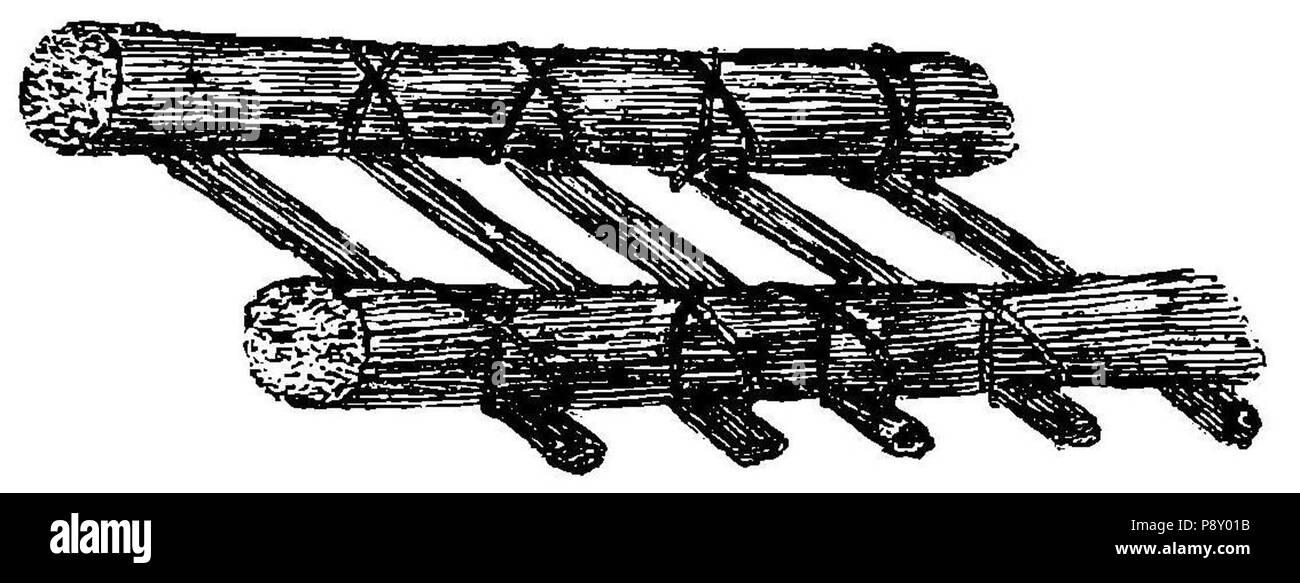 .   314 Grierson 48a Aparato improvisado para fractura de pierna o antebrazo con paja y cuerdas Stock Photo