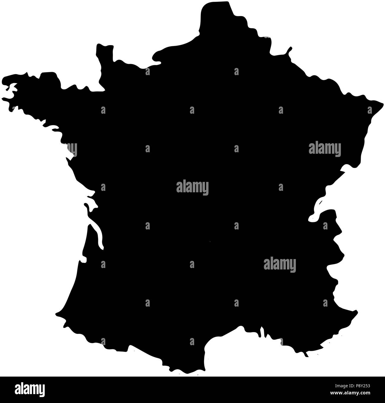 Image of: France Map Black And White Stock Photos Images Alamy