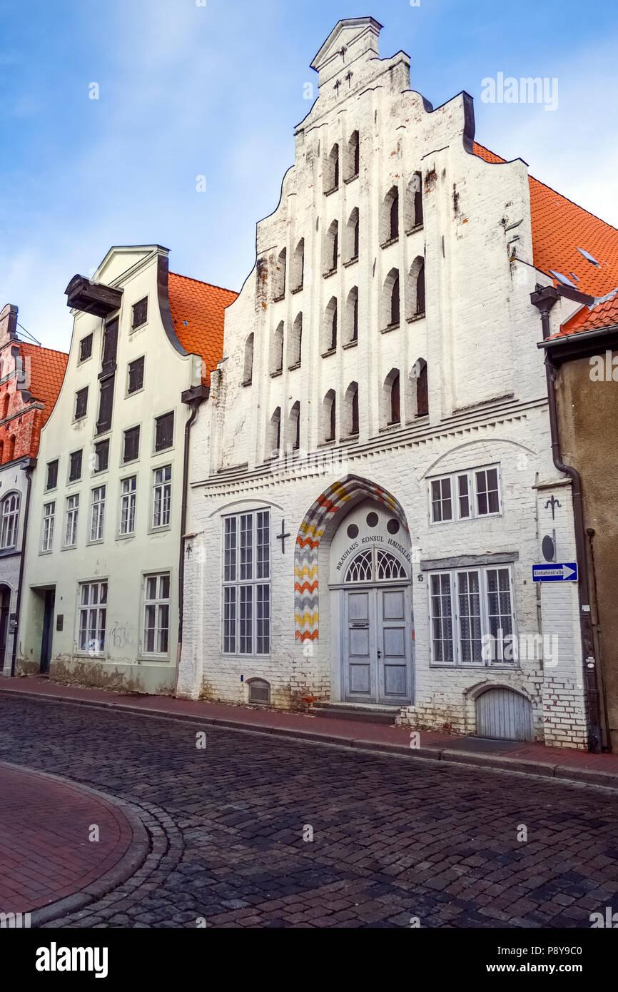 Former brewhouse Consul Haeussler, Wismar, Mecklenburg-West Pomerania, Germany - Stock Image