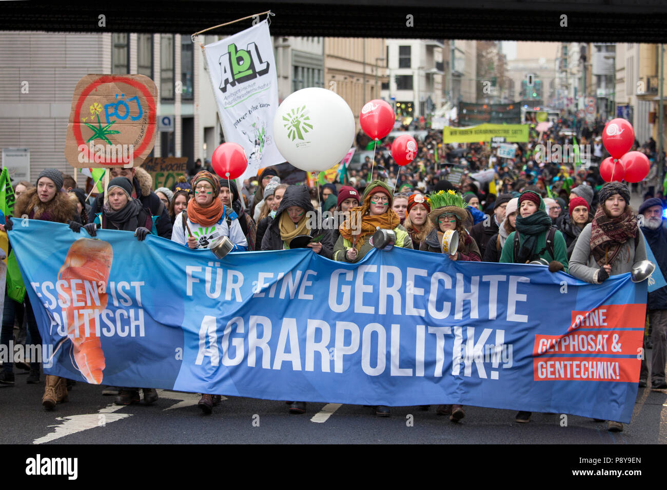 Berlin, Germany, people are protesting with banners at the demo - we are sick of it! - Stock Image