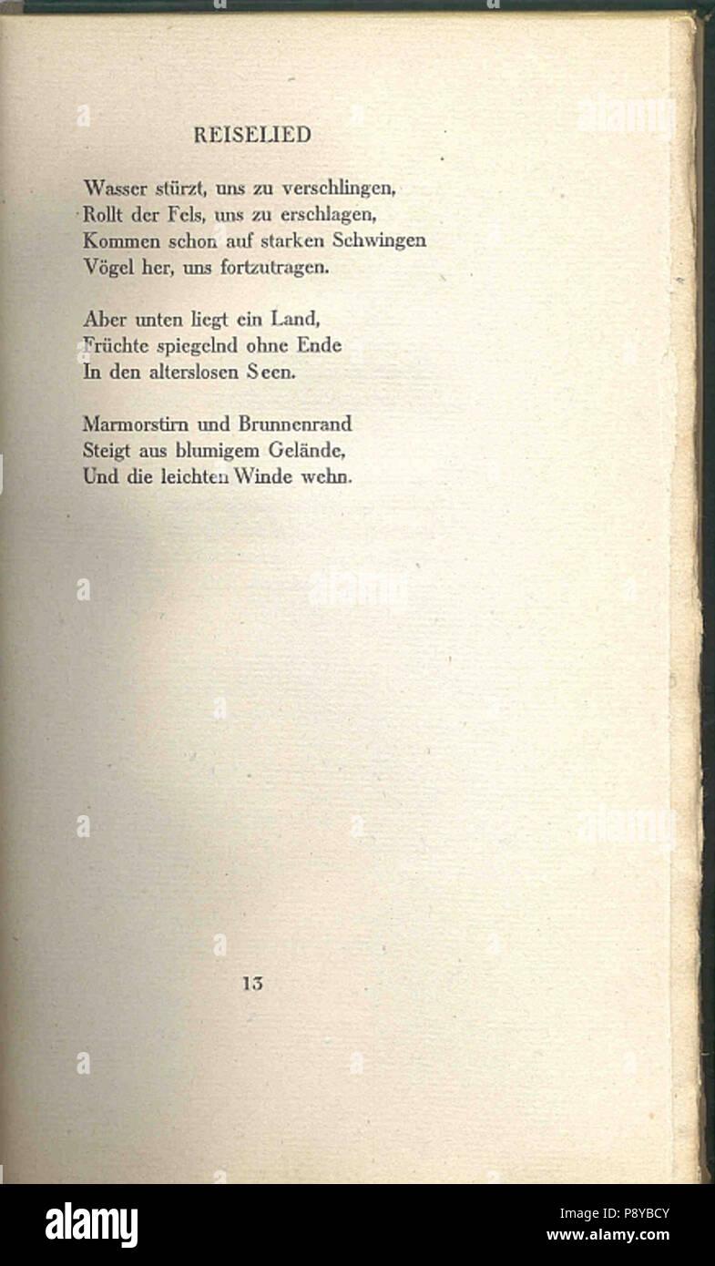 297 Gedichte Hugo Von Hofmannsthal 13 Stock Photo 212043355