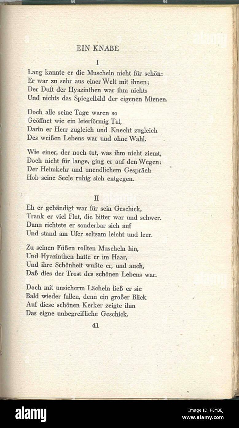 297 Gedichte Hugo Von Hofmannsthal 41 Stock Photo 212043402