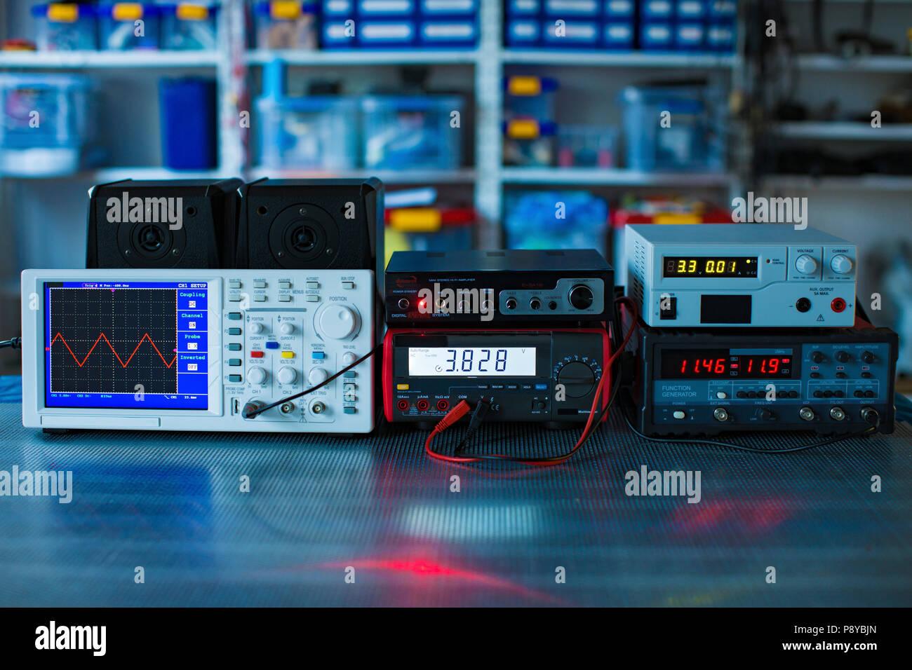 Electronics laboratory. - Stock Image