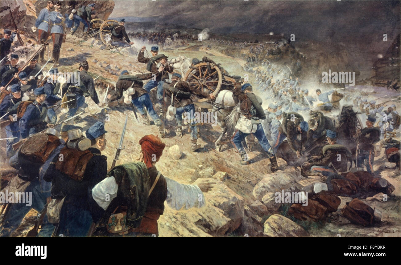 .   298 Gefecht bei Jaice 1878 - Stock Image