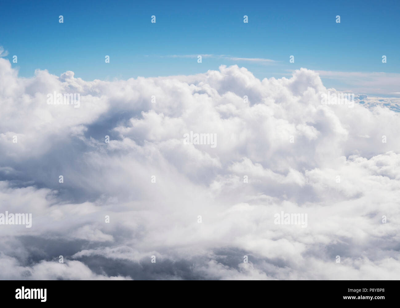 Clouds from aeroplane window. - Stock Image
