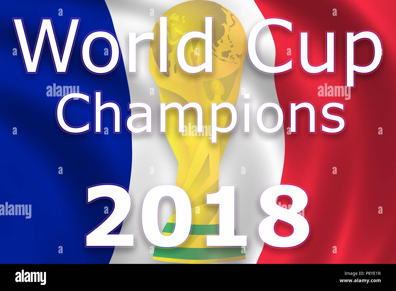 France champion soccer football 2018 - Stock Image