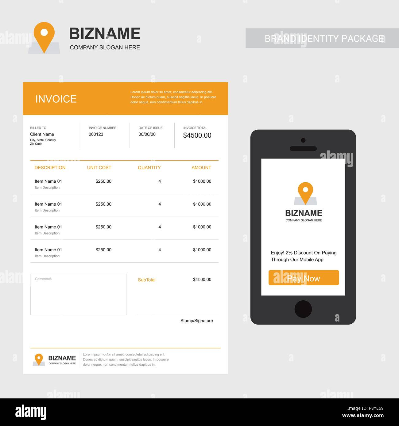company invoice design with creative design vector for web design and application interface also useful for infographics vector illustration