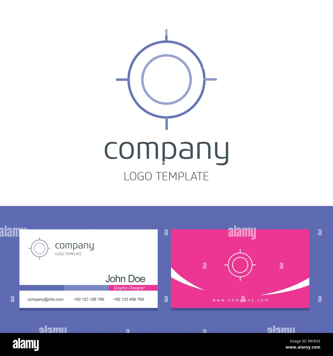 Business card design with target company logo vector for web design business card design with target company logo vector for web design and application interface also useful for infographics vector illustration colourmoves