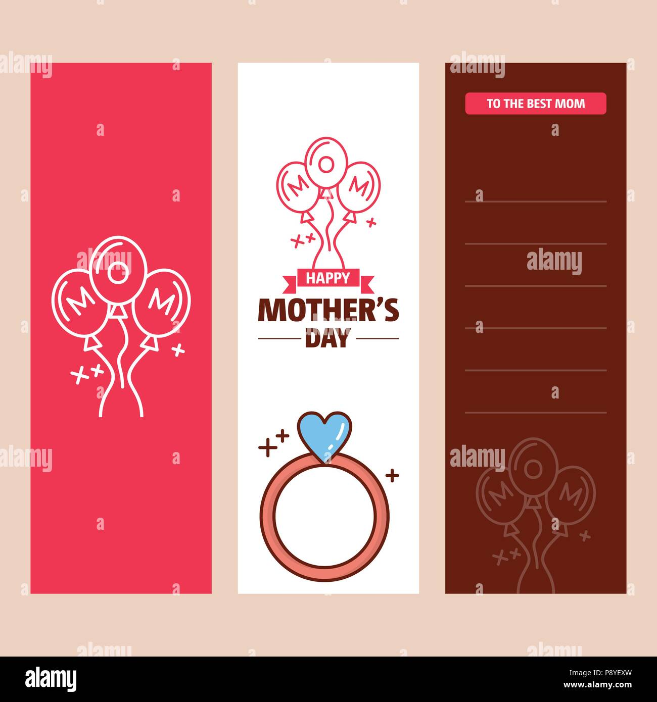 mother s day card with ring logo and pink theme vector for web design and application interface also useful for infographics vector illustration stock vector image art alamy alamy