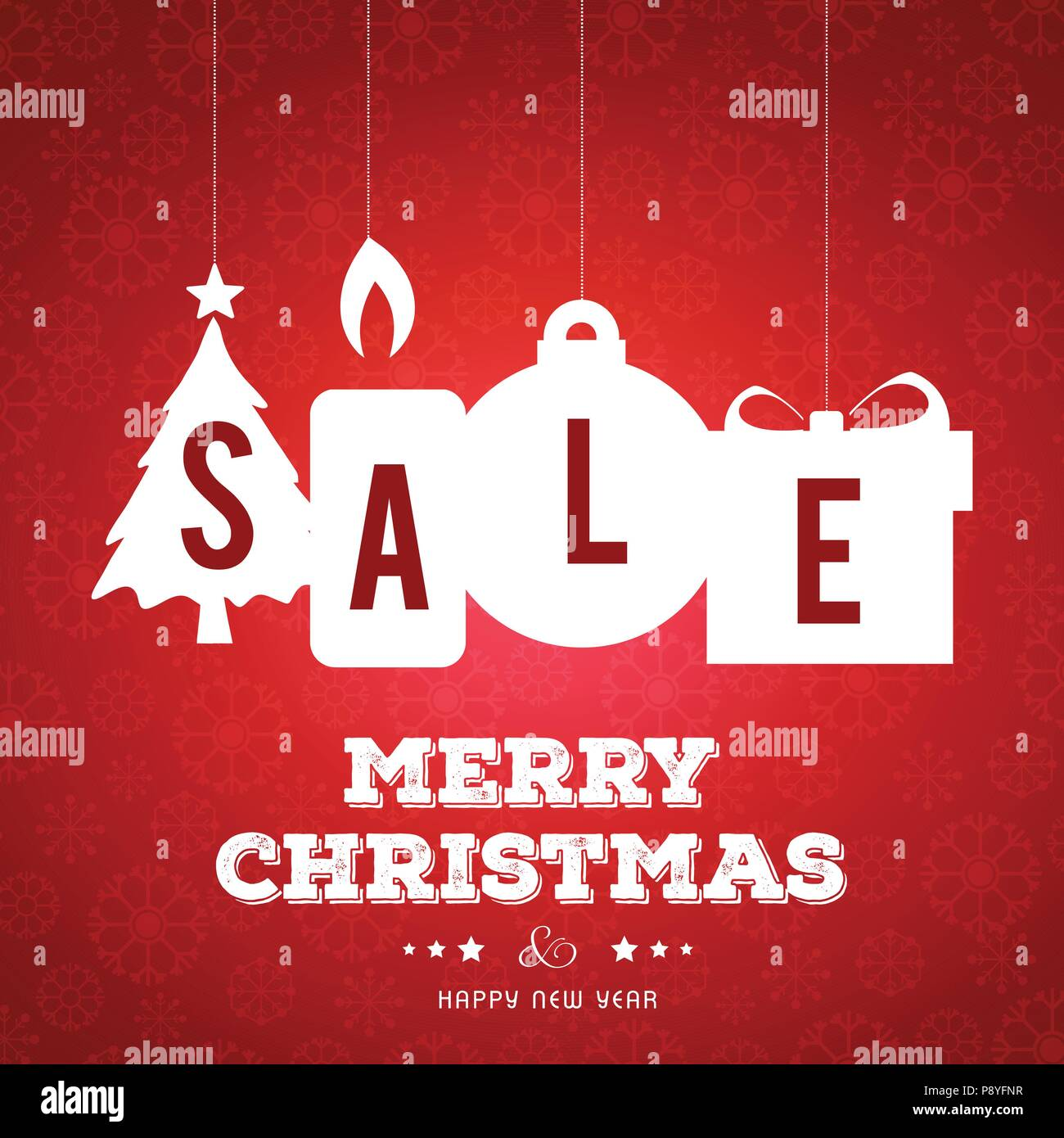 15a2cb301b Christmas sale banner with pattern. For web design and application  interface, also useful for infographics. Vector illustration.