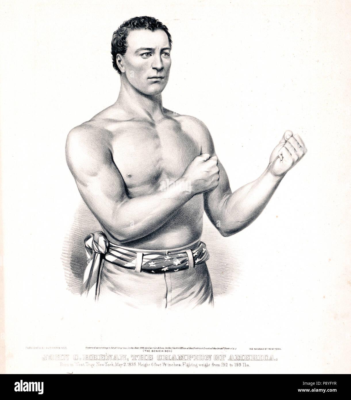 John C. Heenan, the champion of America (the benicia boy) ca 1860 - Stock Image
