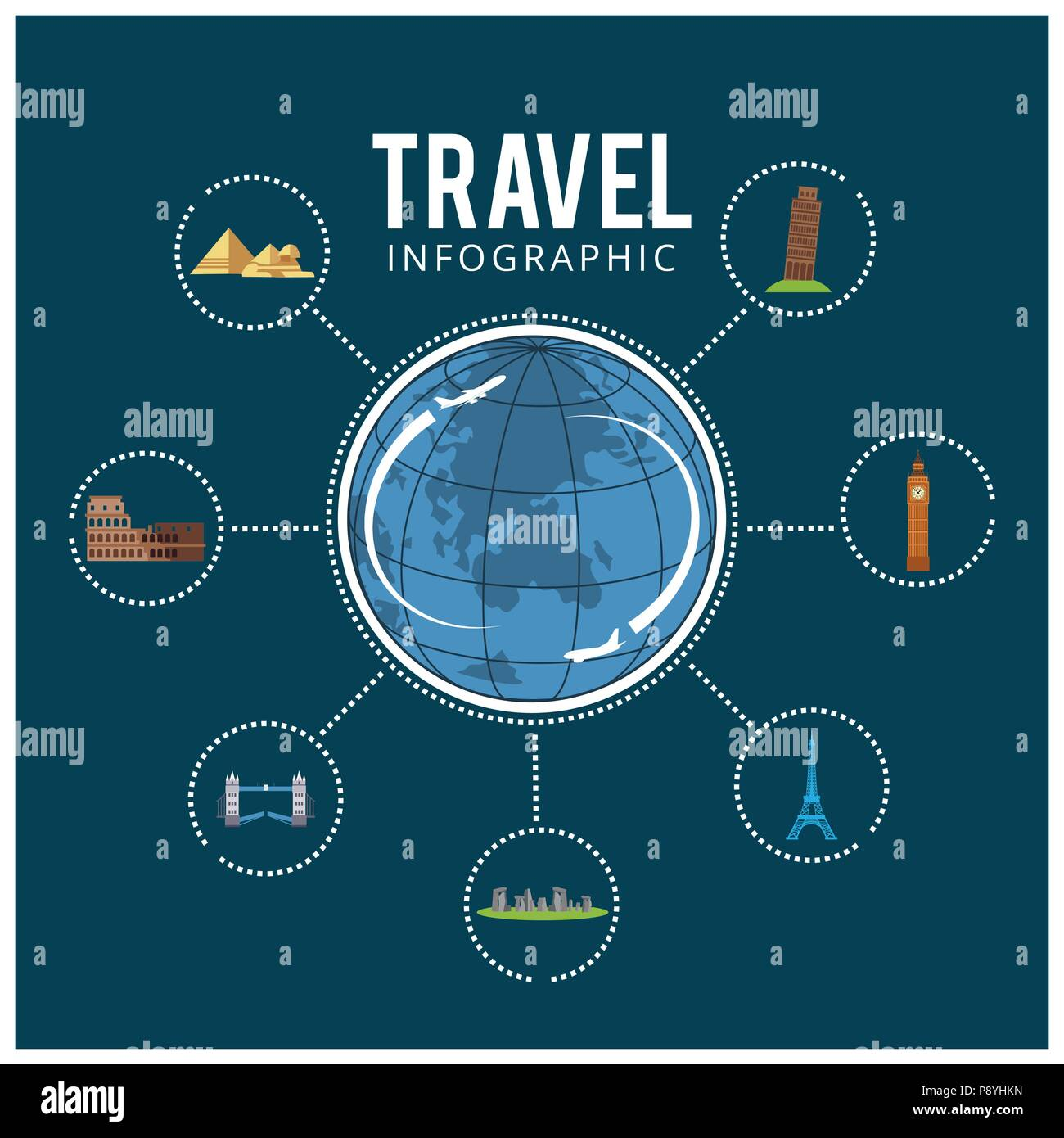 Colourful Travel Travel And Tourism Background And Infographic For Web Design And Application Interface Also Useful For Infographics Vector Illust Stock Vector Image Art Alamy