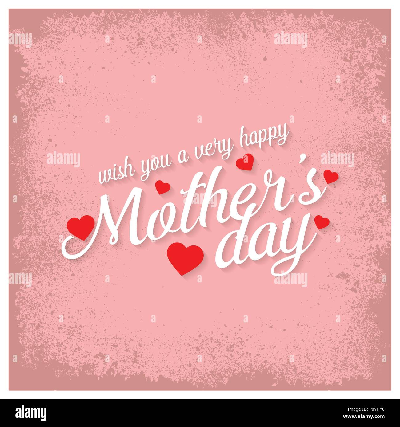happy mothers day lettering handmade calligraphy vector illustration mothers day card for web