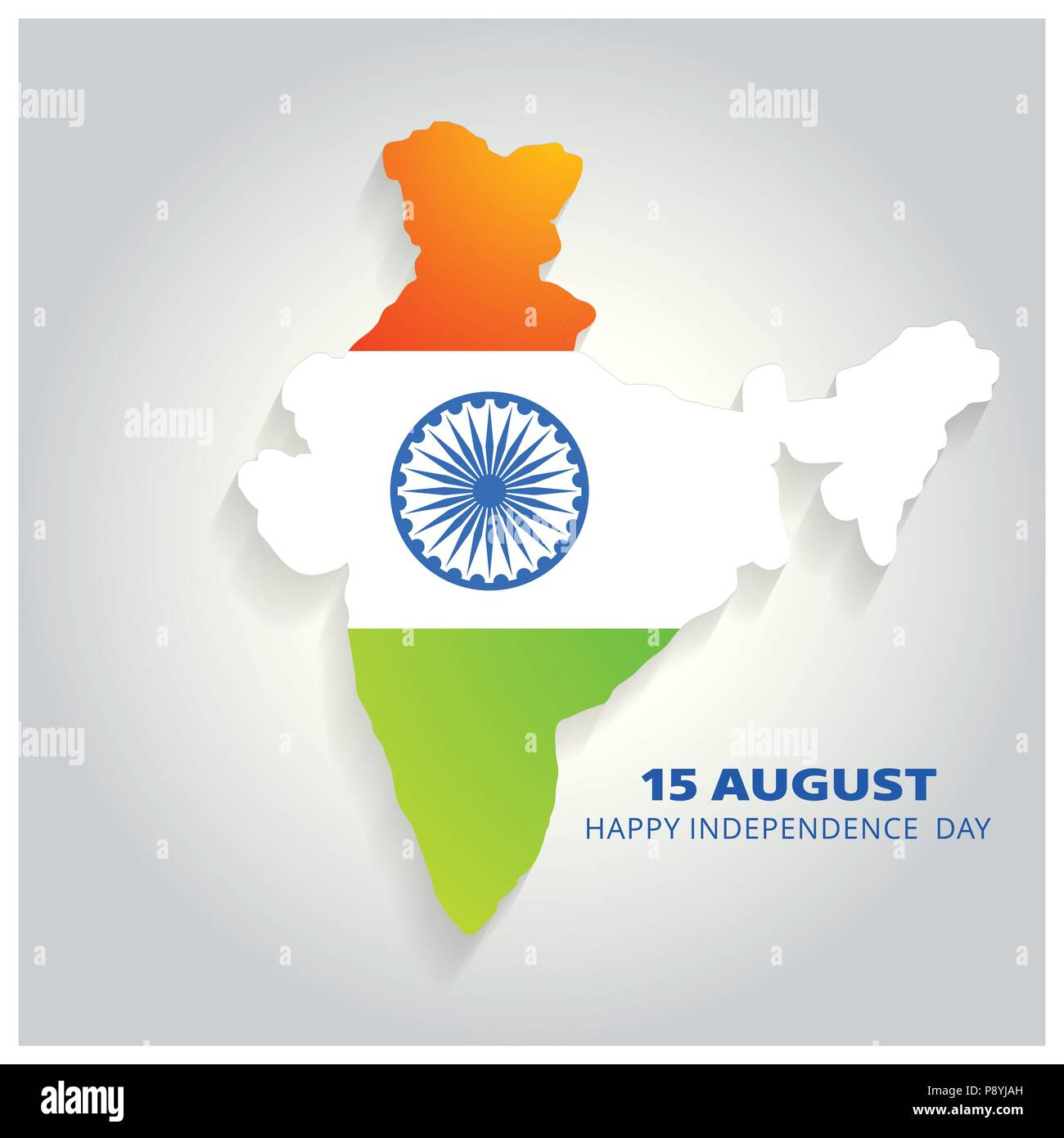 Map India Tricolor Vector Design High Resolution Stock Photography And Images Alamy