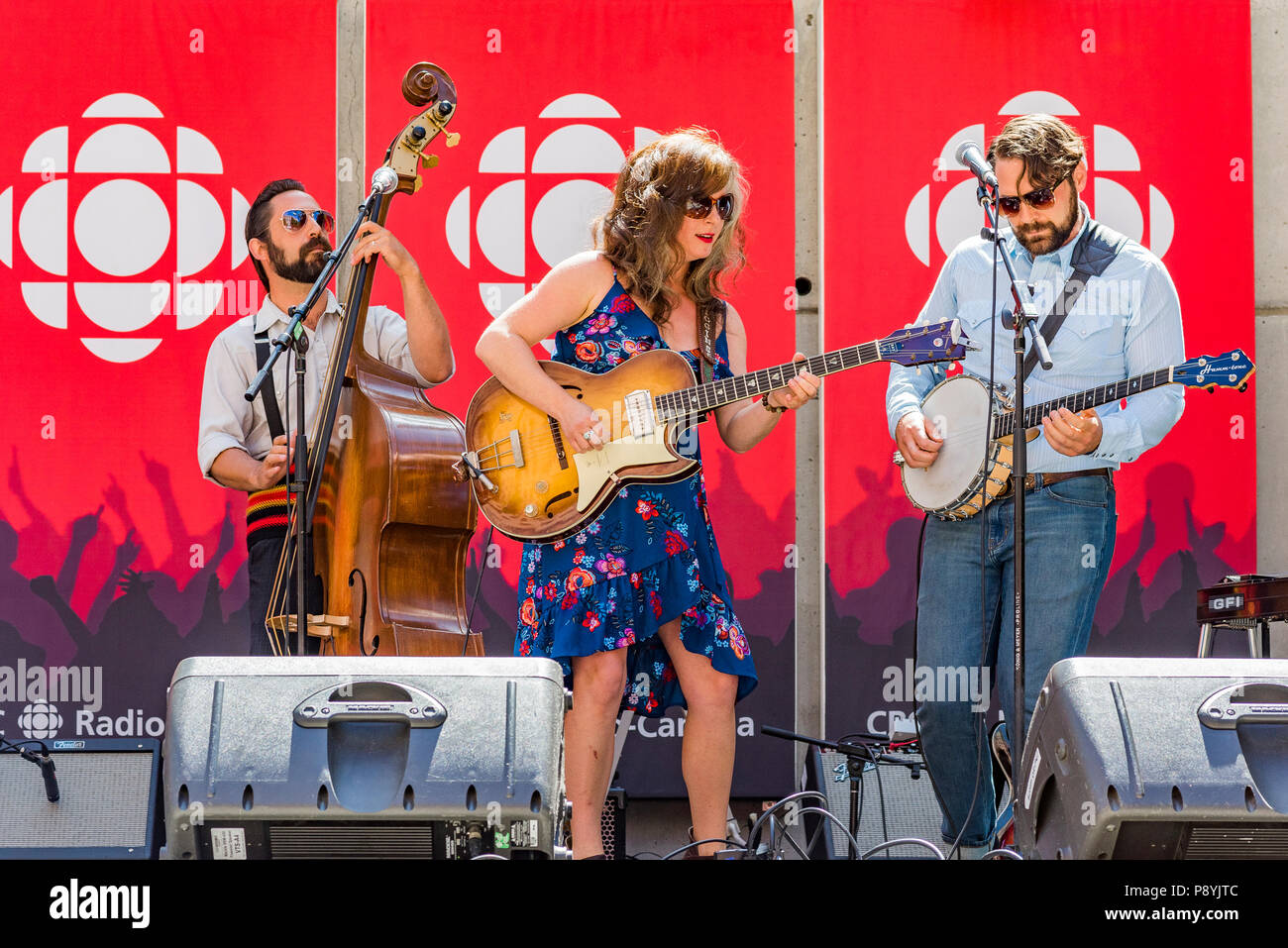 Little Miss Higgins in concert at CBC Musical Nooners, Vancouver, British Columbia, Canada. Stock Photo