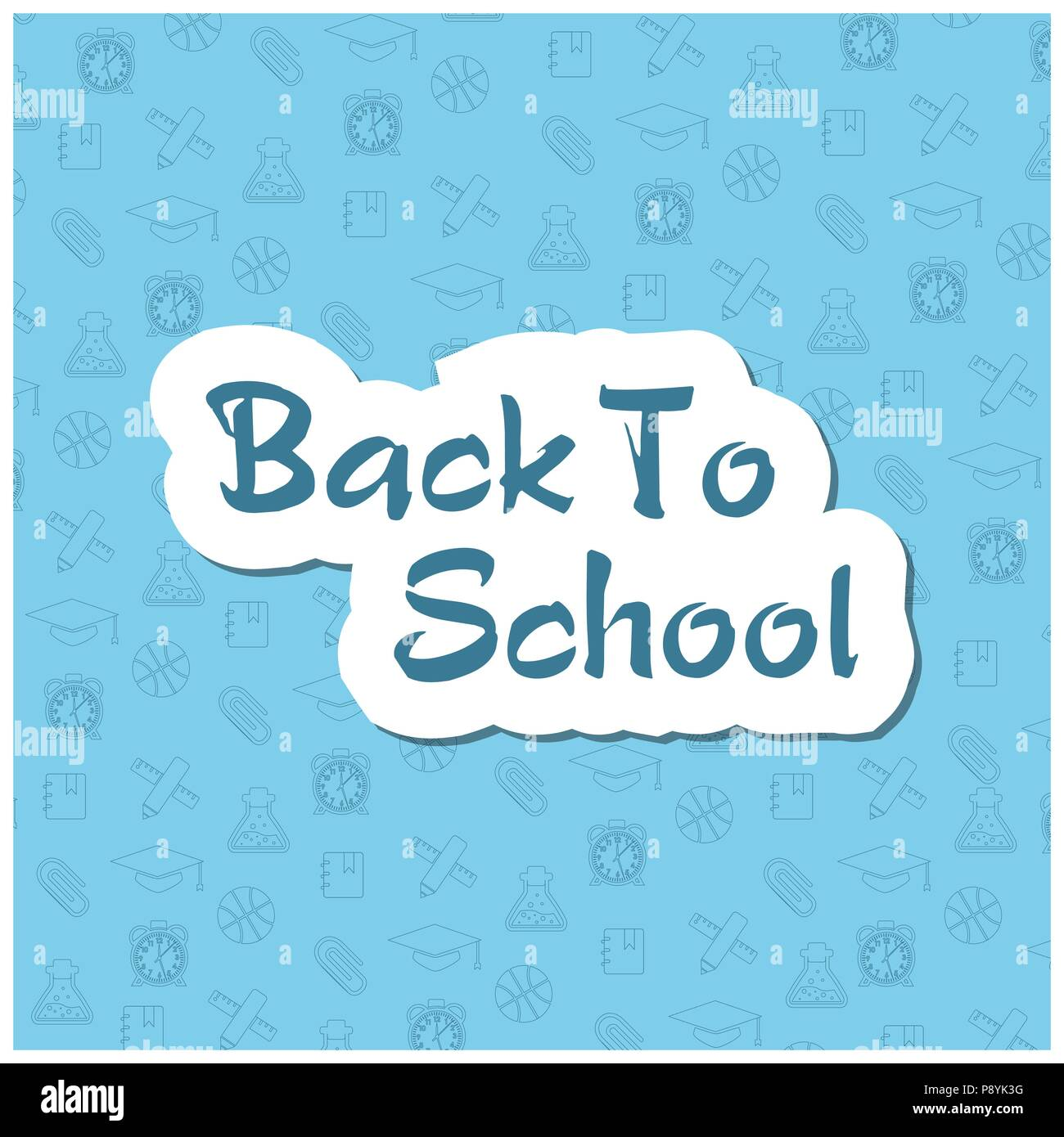 Back To School Flyer Template With Different School Objects For