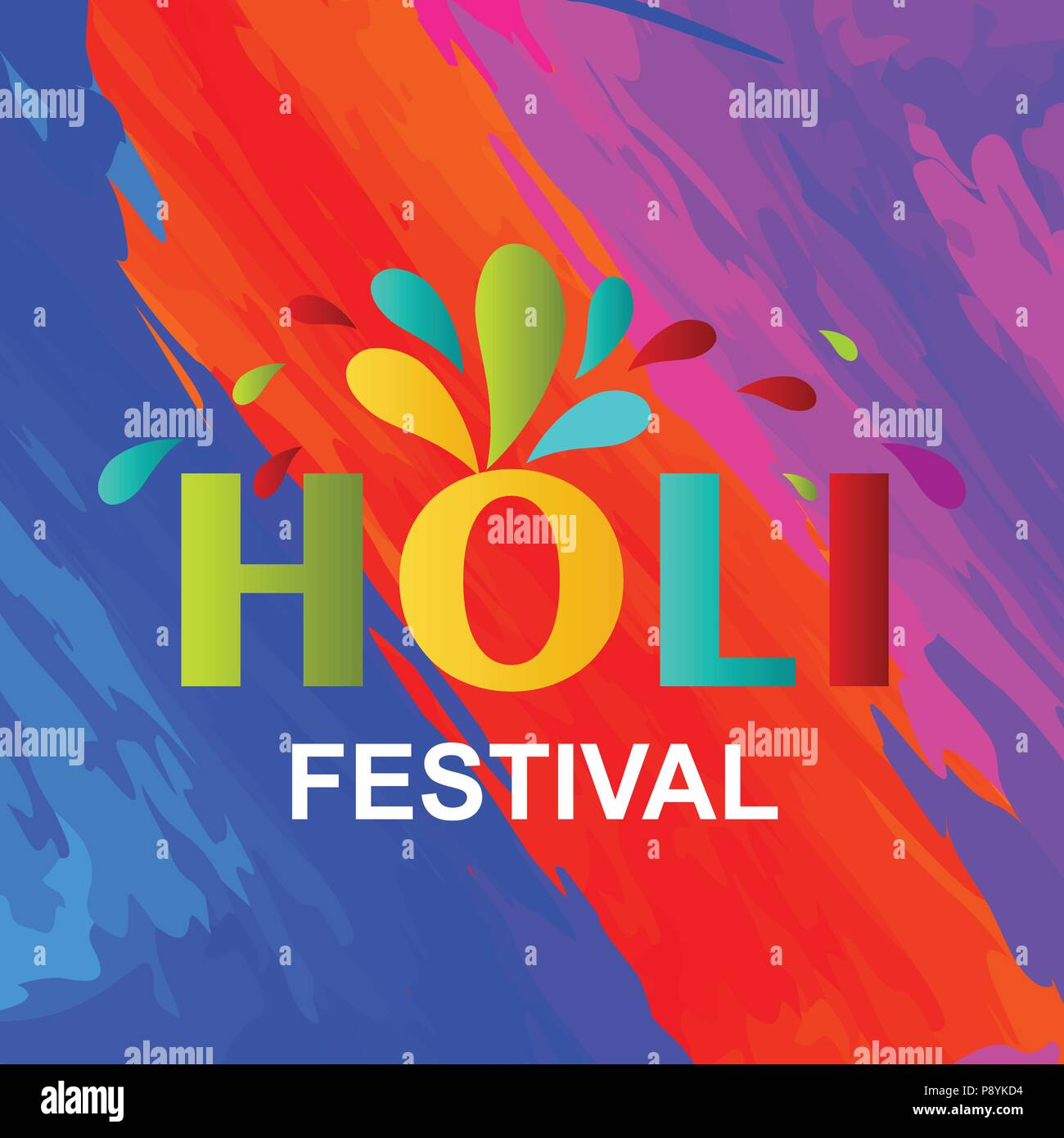 Happy Holi Festival. The Festival of Colors. Colorful background ...