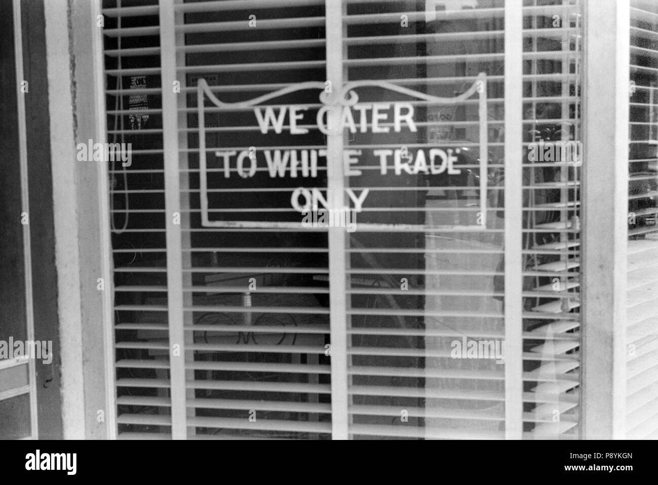 Restaurant With Sign We Cater To White Trade Only