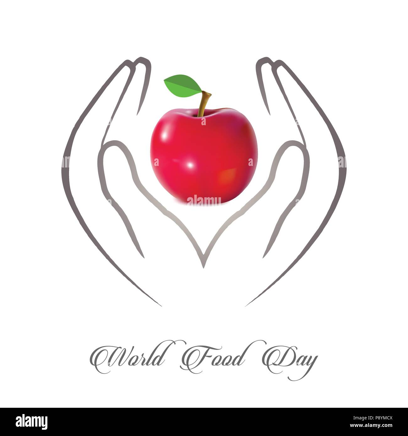 World Food Day Vector Illustration. World Food Day  Cards. World Food Day  poster.. For web design and application interface, also useful for infograp - Stock Image