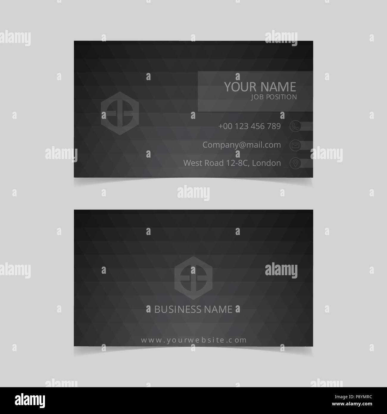 Clean black business card with abstract black pattern for web clean black business card with abstract black pattern for web design and application interface also useful for infographics vector illustration colourmoves