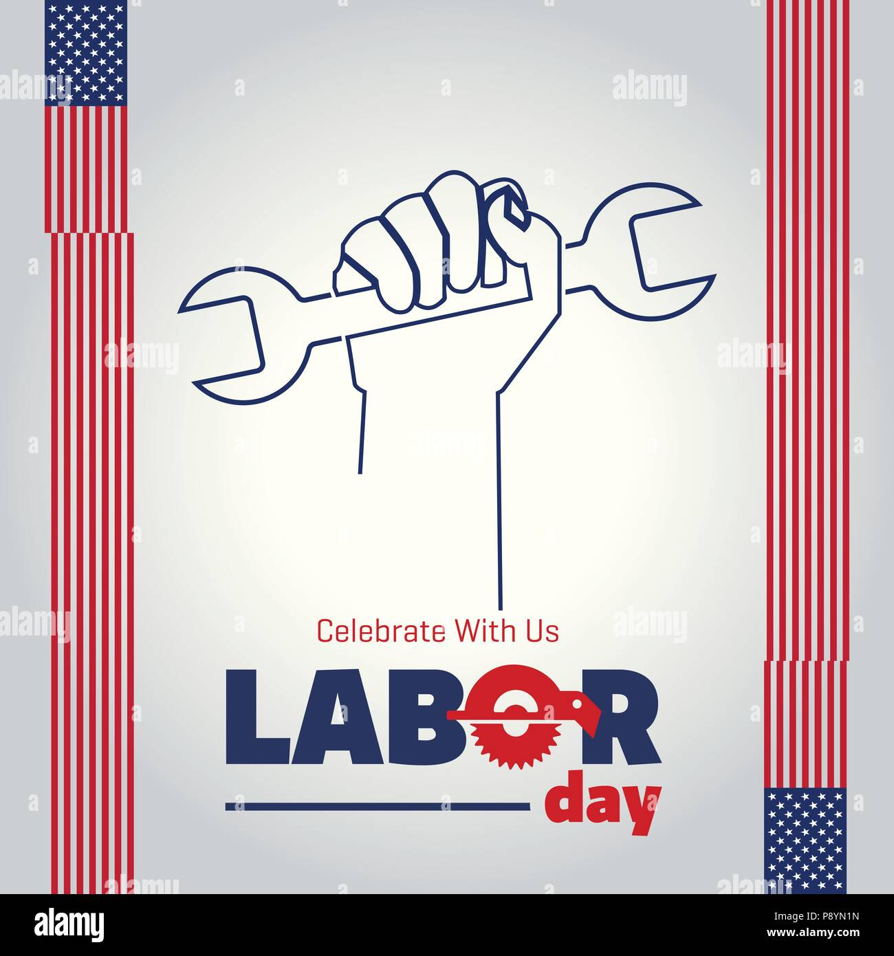 Vector Illustration Of A Happy Labor Day A National Holiday For