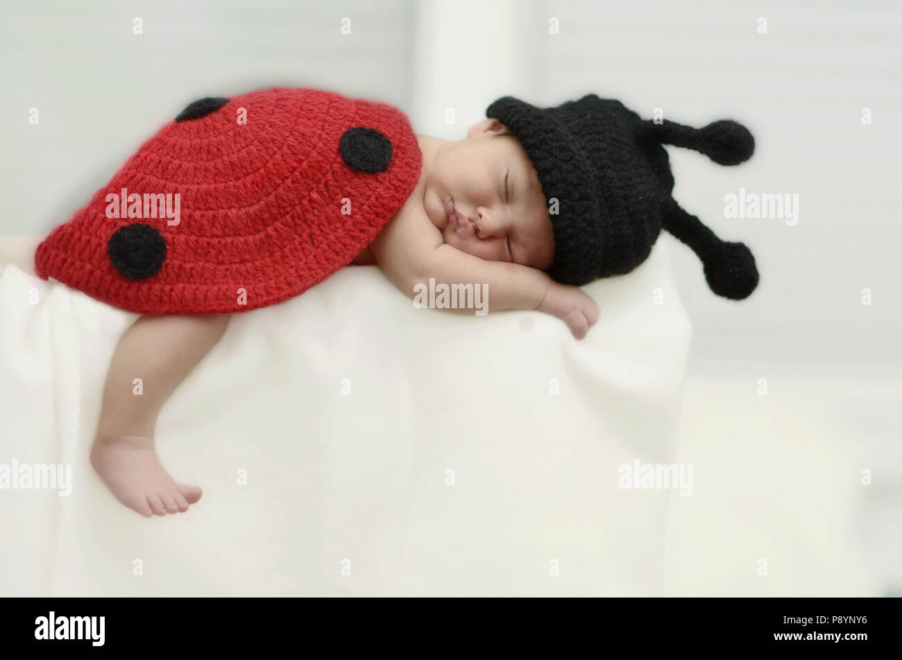 Cute baby sleeping in peace, baby deep sleep - Stock Image