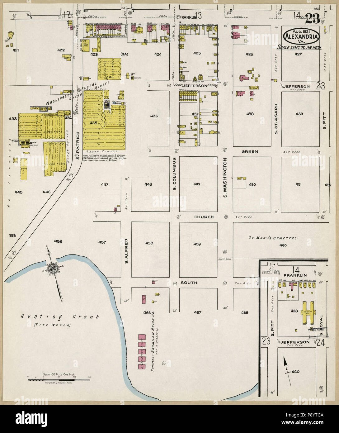 490 Sanborn Fire Insurance Map From Alexandria Independent Cities