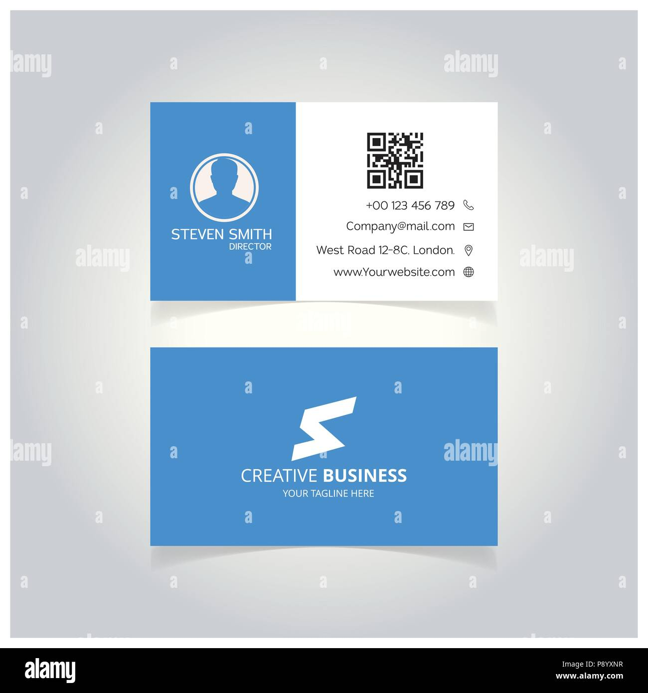 S letter logo minimal corporate business card with white and blue s letter logo minimal corporate business card with white and blue color for web design and application interface also useful for infographics vecto reheart Choice Image