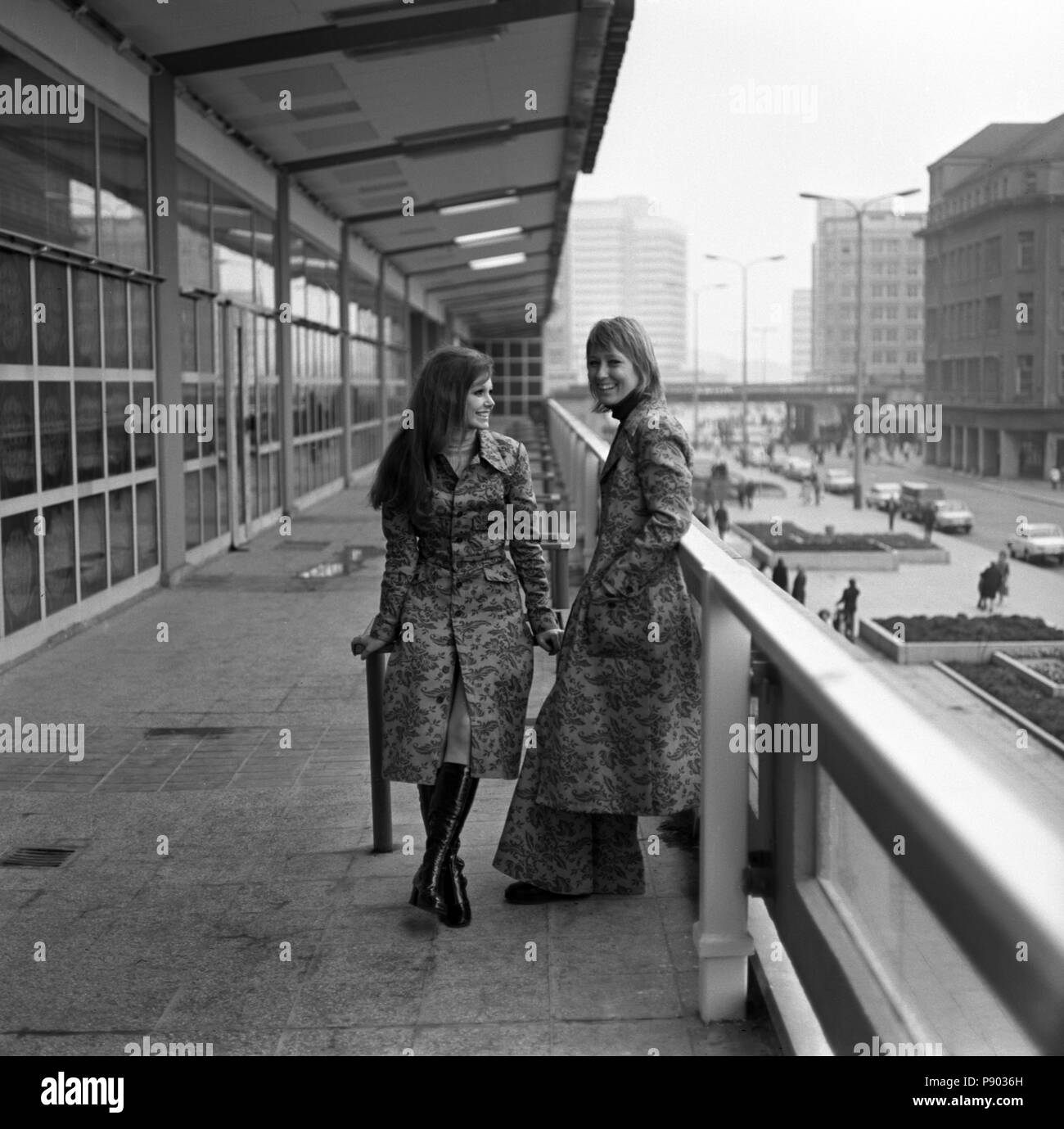 8d29e87ba0d Berlin, GDR, young women wear the latest autumn fashion in the city ...