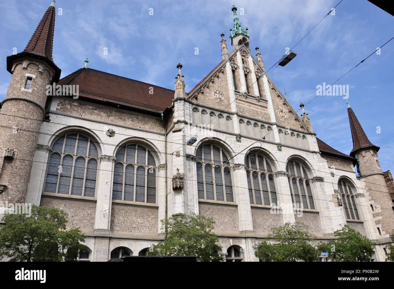 Zürich-city: The Swiss National Museum shows the history and culture of Switzerland - Stock Image