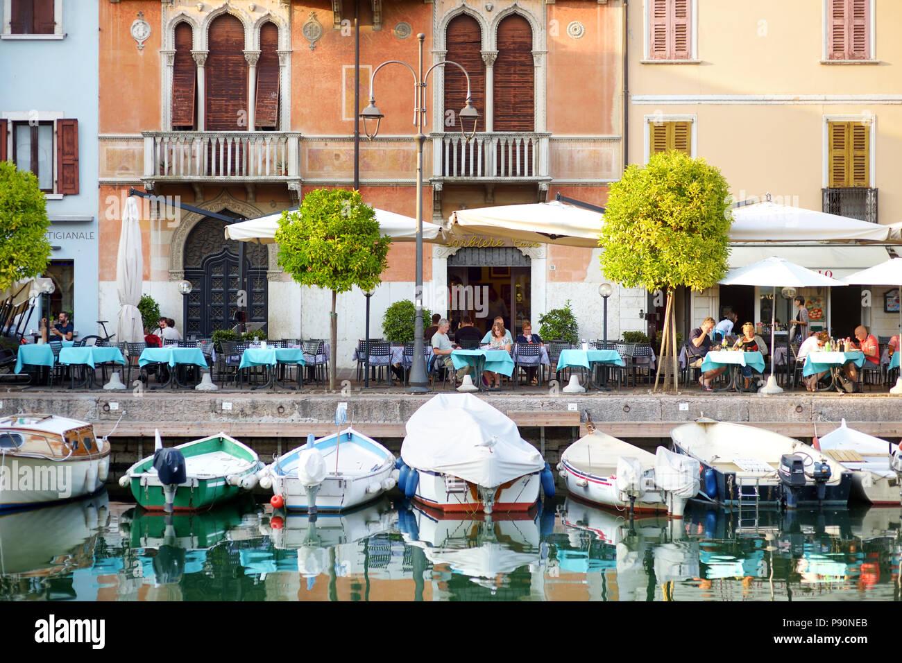 DESENZANO DEL GARDA, ITALY - SEPTEMBER 23, 2016: Beautiful views of Desenzano del Garda, a town and comune in the province of Brescia, in Lombardy, It Stock Photo