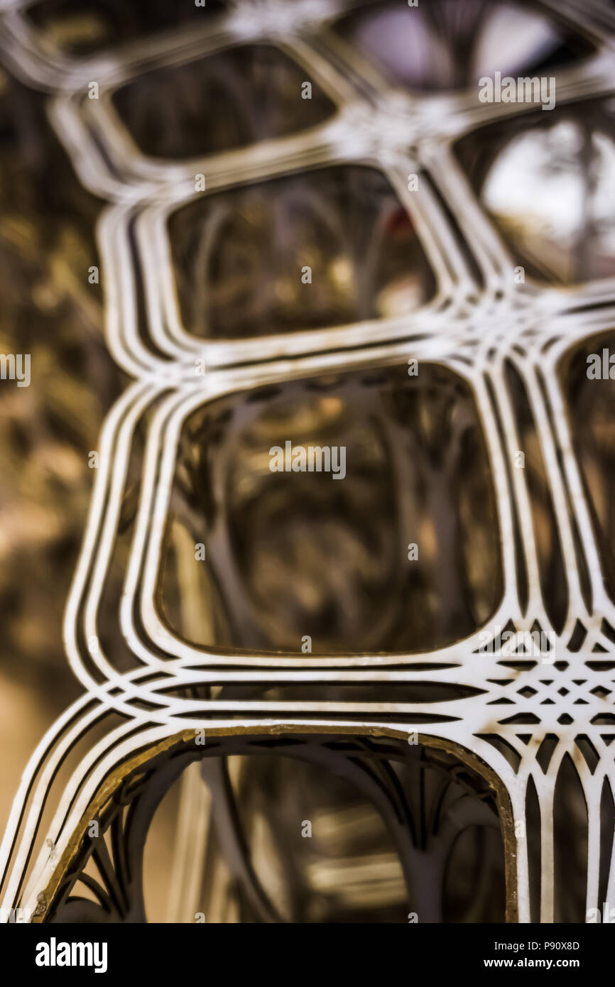 Arial view of three dimensional layered road system model. - Stock Image