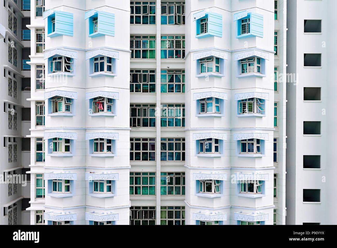 Singapore. Facade of HDB public housing. - Stock Image