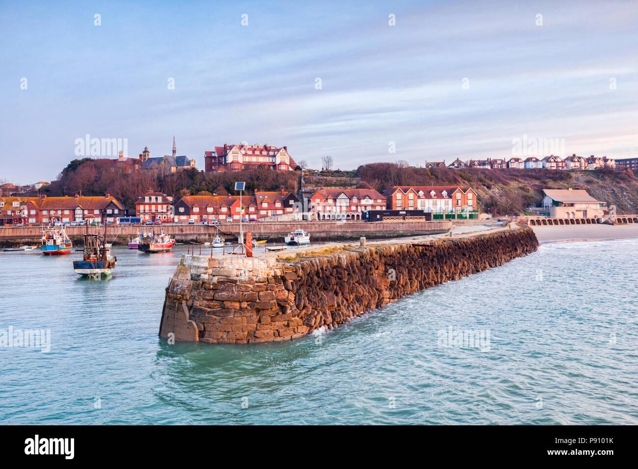 Folkestone Harbour, Kent, England, UK. - Stock Image