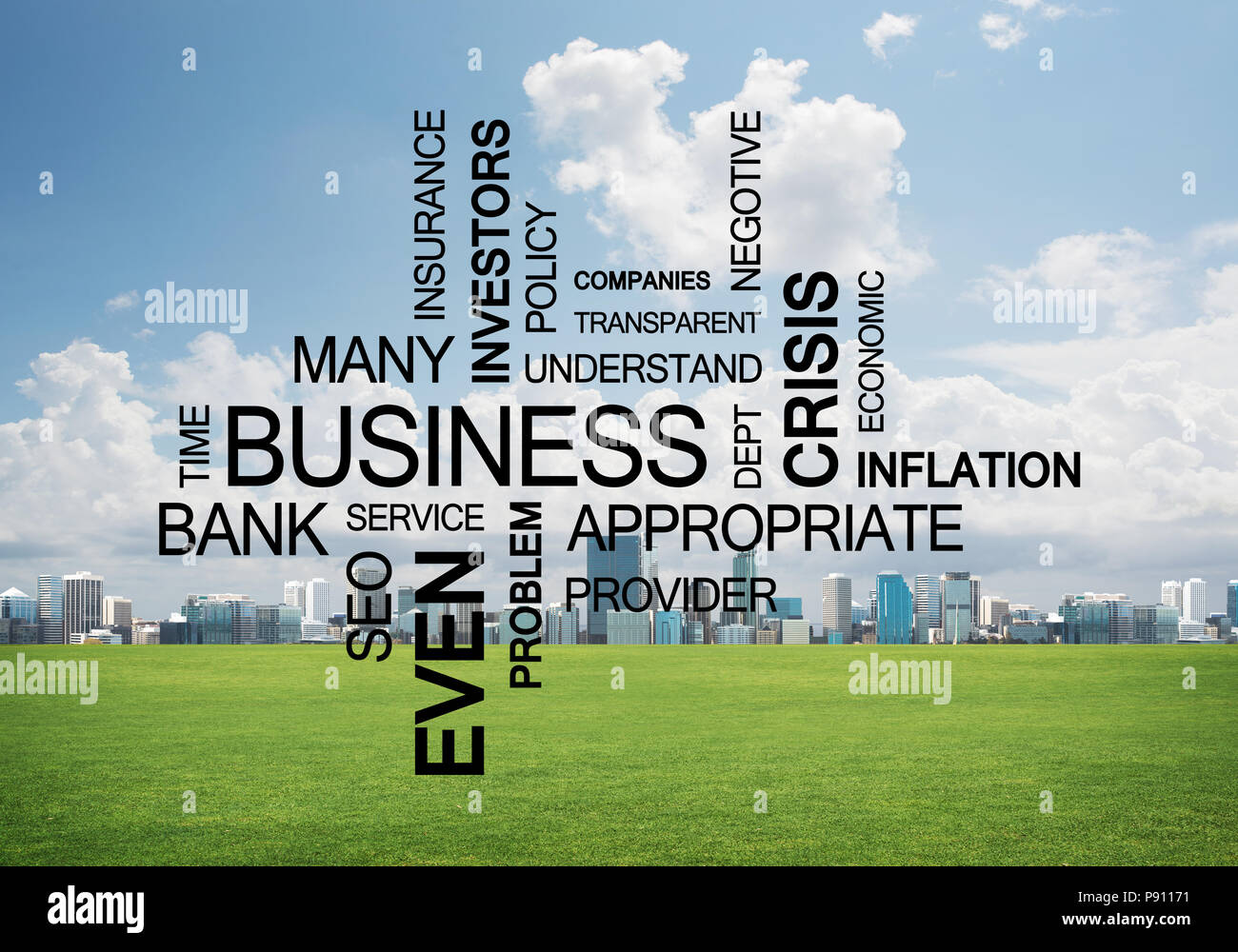 Business conceptual words as keys to success and company growth - Stock Image