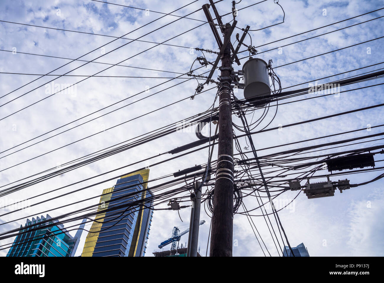 Awe Inspiring Electric Pole Building Sky Architecture Stock Photos Electric Pole Wiring Cloud Hisonuggs Outletorg