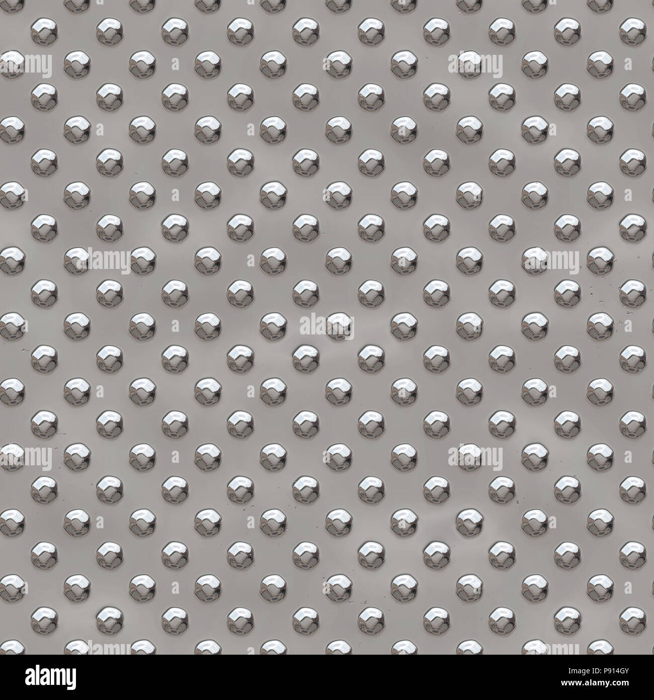 Silver shiny metal plate seamless pattern, or texture. - Stock Image