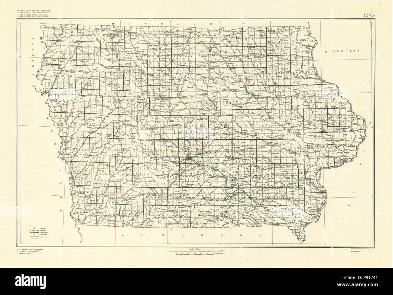 Old Iowa Map.Old Map Of Iowa Stock Photos Old Map Of Iowa Stock Images Alamy