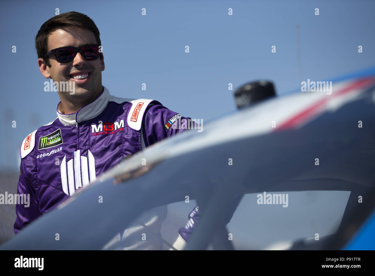 Sparta, Kentucky, USA. 13th July, 2018. Timmy Hill (66) gets ready to qualify for the Alsco 300 at Kentucky Speedway in Sparta, Kentucky. Credit: Stephen A. Arce/ASP/ZUMA Wire/Alamy Live News - Stock Image